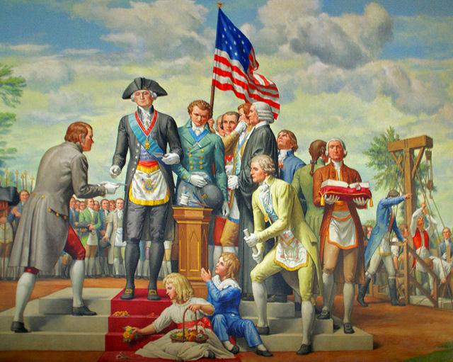 Brother Washington laying the Cornerstone